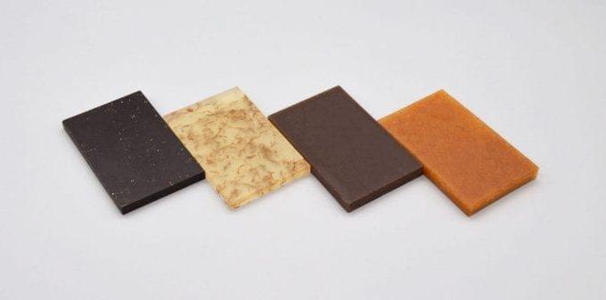 Samples of potato based composites